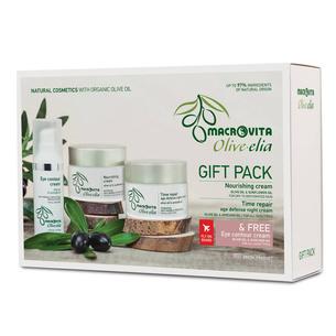 MACROVITA GIFT SET OLIVE-ELIA: Highly Nourishing Cream 50ml + Intensive Rehydration Mask-Cream 50ml + FREE Hydrating Eye Cream 30ml