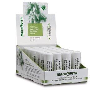 MACROVITA LIP BALM VANILLA SPF10 olive oil & beeswax 4g