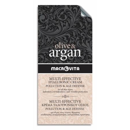 MACROVITA OLIVE & ARGAN HYALURONIC CREAM POLLUTION & AGE DEFENSE all skin types 2ml (sample)