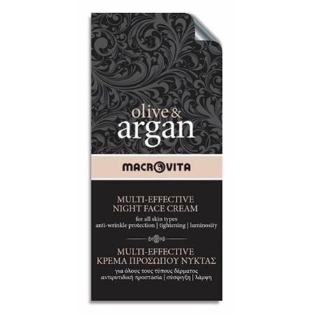 MACROVITA OLIVE & ARGAN MULTI-EFFECTIVE NIGHT FACE CREAM all skin types 2ml (sample)