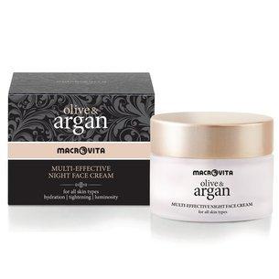 MACROVITA OLIVE & ARGAN MULTI-wirksame Nachtcreme für alle Hauttypen 50ml
