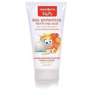 MACROVITA KIDS mleczko ochronne do twarzy i ciała dla dzieci SPF50 aloes & panthenol 150ml