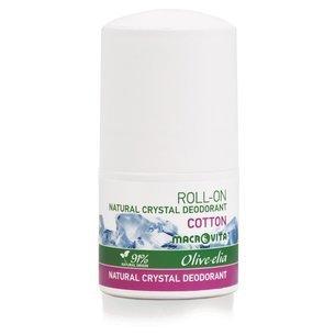 MACROVITA OLIVE-ELIA dezodorant roll-on z naturalnym kryształem COTTON 50ml