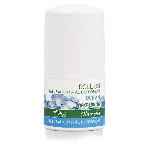 MACROVITA OLIVE-ELIA dezodorant roll-on z naturalnym kryształem OCEAN 50ml