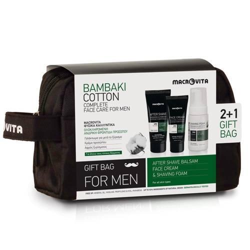 ZESTAW MACROVITA MEN: balsam po goleniu 100ml + nawilżający krem 50ml + GRATIS pianka do golenia 125ml + kosmetyczka